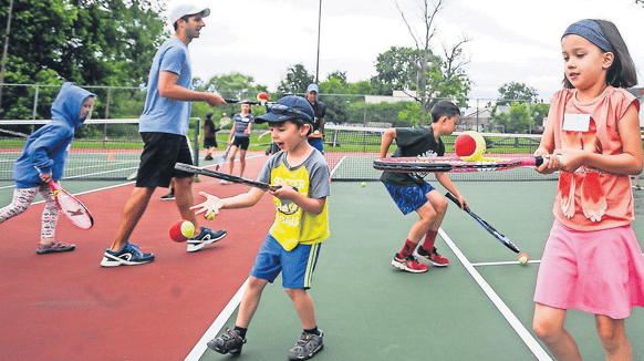 Junior Tennis with kids at Vermont Sport and Fitness
