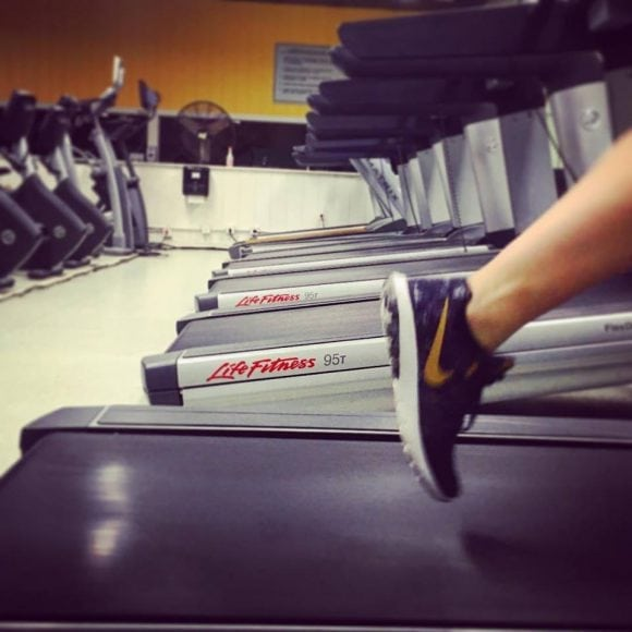 Running on Treadmill at Vermont Sport & Fitness