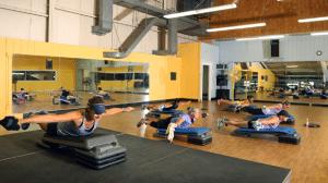 Class inside Vermont Sport & Fitness Club