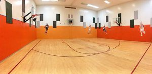 Basketball Court at the gym
